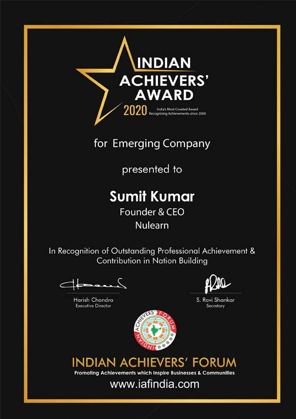 Indian Achievers Award 2020