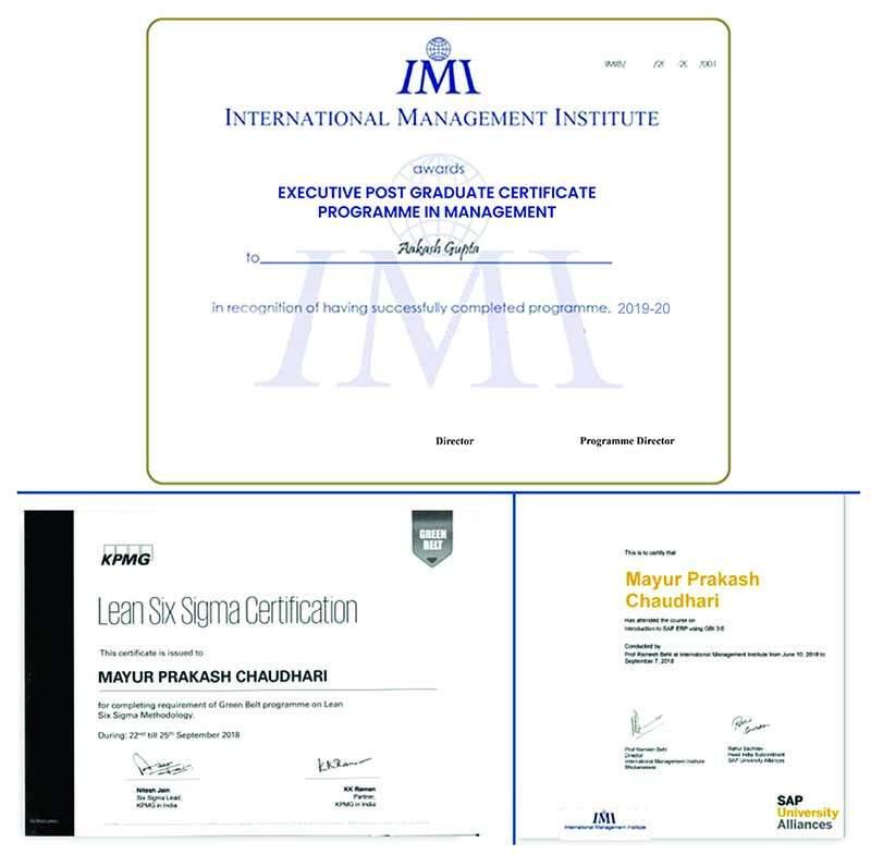 IMI Certificate