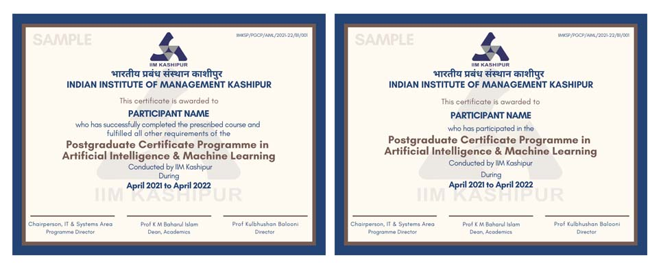 AI & Machine Learning Certificate