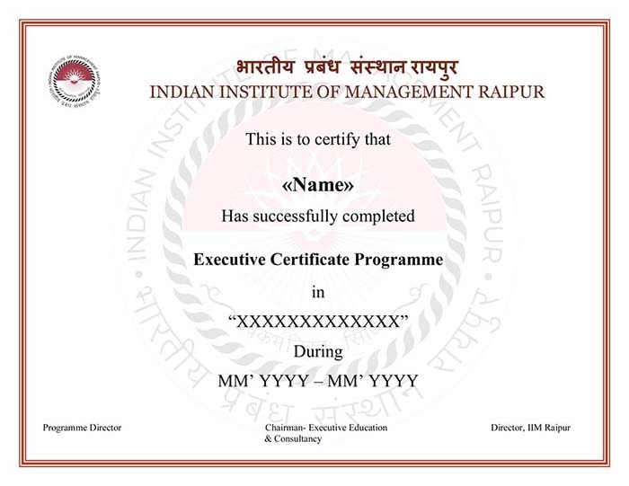 Data Science with IIM Raipur Certificate