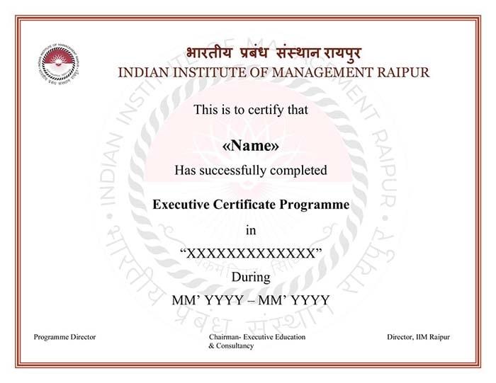 Data Science with IIM Raipur Certificate
