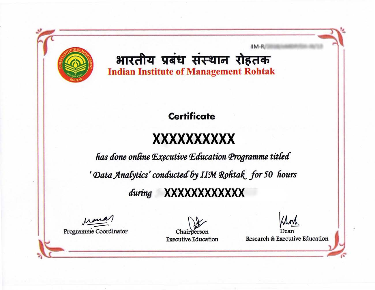 data analytics certification