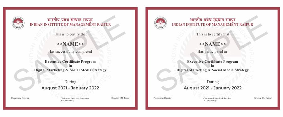 Digital Marketing and Social Media Certificate